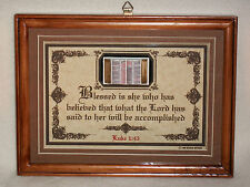 BLESSED IS SHE WHO HAS BELIEVED WHAT THE LORD HAS SAID TO HER~Bible Verse Plaque