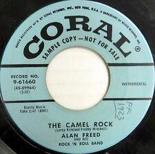 ALAN FREED 45 The Camel Rock CORAL Instrumental R&B Promo ORIGINAL #BB1002