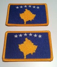 2 KOSOVO Flag Iron-On Patch Military Emblem Embroidered