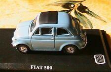 FIAT 500 BLEU CIEL BLUE SKY ITALIA 1/43 NEW ITALIE NEUF BLAU VEHICULE REDUIT