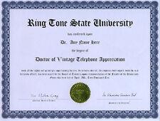 Doctor Vintage Telephone Appreciation Novelty Diploma