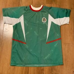 Alexis Soccer Jersey Green White w/Federacion Mexicana De Futbol Asso. Emblem