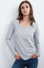 VELVET By Graham & Spencer Kilia Cotton Stub Round Neck Long Sleeve Size XL $79.