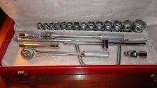 "Williams 1/2"" Drive Williams SAE Socket Set with Case  Nos !"