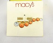 MACY'S Gold-Toned Two Finger Ring Msrp $18.50 * NEW WITH TAG *