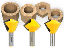 "3 Bit Bird's Mouth Router Bit Set - 1/2"" Shank - Yonico 15330"