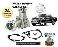 para Mitsubishi L200 Animal 2.5 DID 2006> Kit Bomba de agua con junta