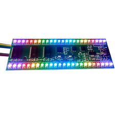 MCU RGB Display Pattern Dual Channel 24 LED VU Level Indicator Meter F Amplifier