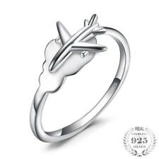 Sterling Silver Adjustable Airplane Travel Ring