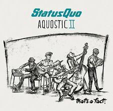 STATUS QUO AQUOSTIC II (2) THAT'S A FACT! 2CD DELUXE EDITION (2016)**free UK p+p