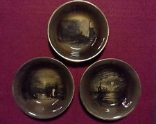 Antique Ridgway Royal Vistas Ware, Paintings by Famous Artists, 3 Small Bowls