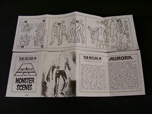 1971 Aurora Dracula Monster Scenes Model Kit  Canadian Assembly Instructions