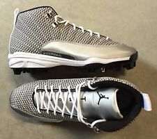 Nike Jordan 12 XII Retro MCS Baseball Cleats White size 9.5 (# 854566-100)