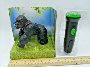 Infrared Remote Control Walking Mini Black Gorilla w Red Eyes Toy Kid Gift US