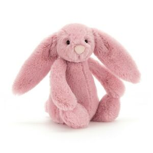 Jellycat Bashful pink bunny plush NWT Raspberry color 7 inch small