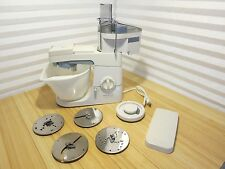 Kenwood Chef Excel KM210 Kitchen Mixer Bowl & 4 Slicer Shredder Stainless Plates