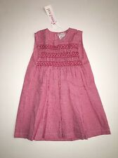 Moon Et Miel France Smocked Gingham Dress 23m NWT $103