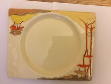 Bizarre by Clarice Cliff CORAL FIRS rectangular shape