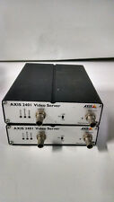 2x AXIS 2401 Single Input Network IP Surveillance Security Video Server Encoder