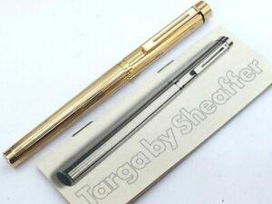 Y5408  SHEAFFER TARGA Fountain Pen Stripe 14K Gold 585   w/Converter