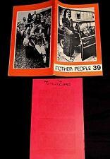 1989 FINAL MOTHER PEOPLE ISSUE #39 W/ TOTALLY ZAPPED INSERT FRANK ZAPPA FANZINE
