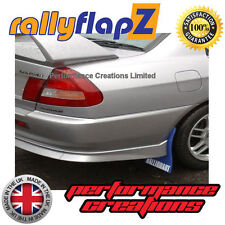 rallyflapZ Mitsubishi Lancer Evo 5-6 Mud Flaps Kit Blue Ralliart White 4mm PVC