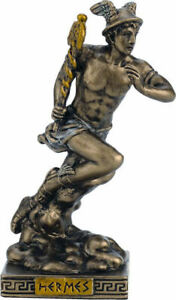 Greek /Roman Mythology God Hermes /Mercury Cold Cast Bronze miniature 8.7cm/3.4'