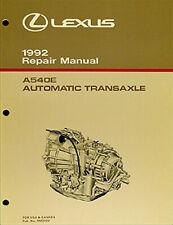 1992 Lexus ES 300 Automatic Transmission Repair Shop Manual ES300 A540E Service