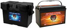 VMAX XTR31-135 + GRP 31 BOX for Chris Craft pwr boat marine dp cycle 12V battery