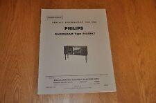 Philips Model F5G50AT Radiogram Workshop Service Manual.