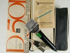 rare vintage AKG D501 cardioid reporter microphone with bill from 1968