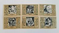 SCHOPFHEIM NOTGELD 6x 50 PFENNIG 1921 NOTGELDSCHEINE (12477)
