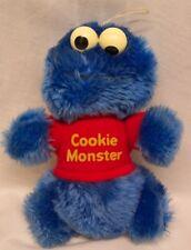 "Vintage Sesame Street Cookie Monster 7"" Plush Stuffed Animal Toy"