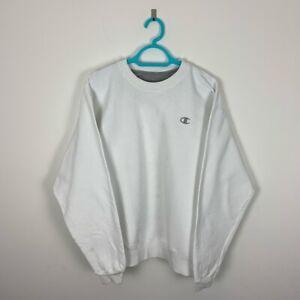 Vintage Champion White Crew Neck Sweatshirt