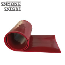 """Silicone Rubber Sheet High Temp Solid Red Standard Grade 1/4"""" x 12"""" x 36"""""""
