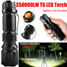 350000LM T6 LED Tactical Flashlight Torch Zoomable Work Light Headlamp Outdoor