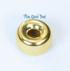 7.2mm LARGE 14k Solid Gold Smooth Donut Rondelle Bead Spacer (1)