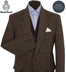 Harris Tweed Jacket Blazer 40R Country Windowpane Check Hacking Hunting Sports