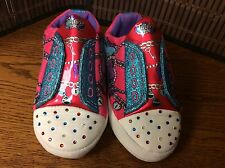 SKETCHER Twinkle Toes girls house slippers youth size 2 - 3 pink light up  F16