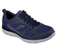Navy Skechers Shoes Men's Memory Foam Sporty Comfort 52812 Casual Walking Mesh