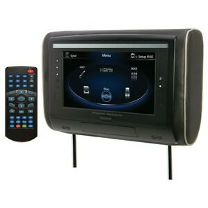 "Power Acoustik HDVD94 9"" Headrest Monitor DVD, 3 Color Skins"