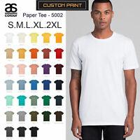 AS Colour T-SHIRT Blank Plain Print Paper Tee S-2XL Men's Premium Combed Cotton