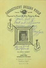 Tony Zale and Johnny Mack signed 1968 Connecticut Boxing Banquet program