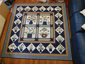 Blue Baltimore quilt pattern
