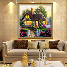 DIY Handmade Beautiful Garden House Counted Cross Stitch 5D Diamond Embroidery