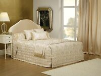 Bianca Buckingham Gold Bedspread Set in All Sizes