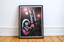 JIMMY PAGE - LED ZEPPELIN - Print on Satin Photo Paper - Wall Art - Choose Size
