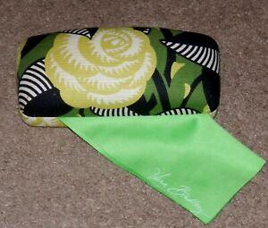 LN Vera Bradley Hard glasses sunglasses case hinged La Neon Rose Clamshell cloth