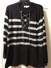 Michael Kors Plus Size 1X Chain Neck Glitter Tunic, Retail $135
