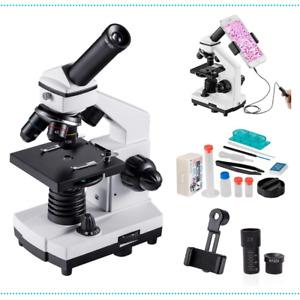 Microscope Monocular 2000x Magnification Powerful Biological Educational